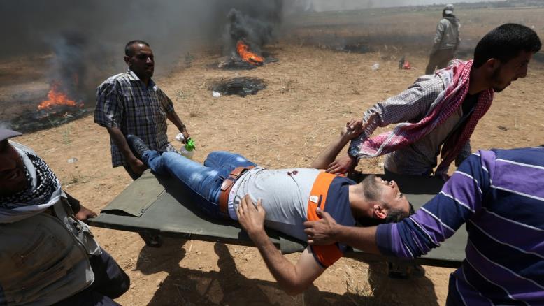 فلسطيني أصيب برصاص الاحتلال عند الحدود الجنوبية لقطاع غزة