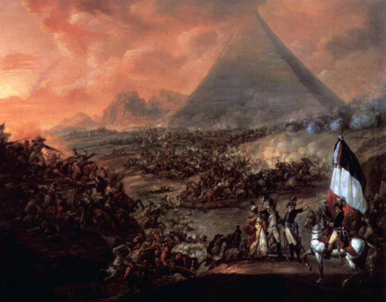 لوحة معركة الأهرام فرانسيز لويس جوزيف 1798-1799.