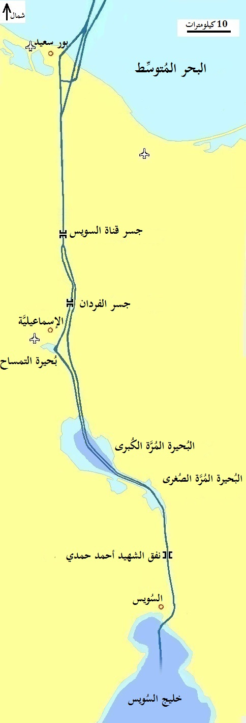 قناة السويس على الخريطة