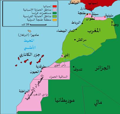 الاحتلال الثلاثي للمغرب: من 1912 إلى 1956 (حسب الحماية الفرنسية)