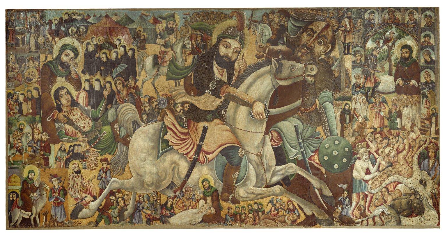 لوحة لمعركة كربلاء في متحف بروكلين